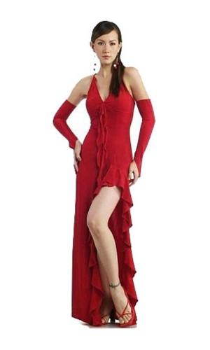 Utsökt Röd Festklänning Långa  Klänningar