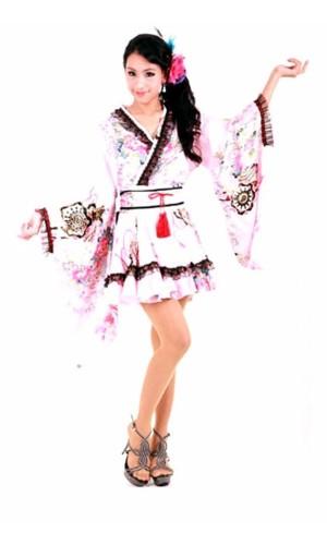 Vacker Rosa Kimono Kimono Klänningar