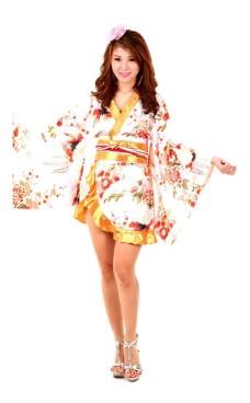 Vit Asiatiska Kimono Kimono Klänningar