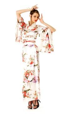 Vit Kimono Klänning Kimono Klänningar