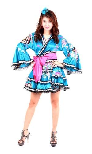 Yukata Miniklänning Kimono Klänningar