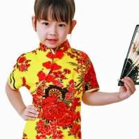 Asiatiska Barnklänning